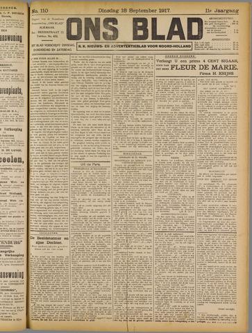 Ons Blad : katholiek nieuwsblad voor N-H 1917-09-18