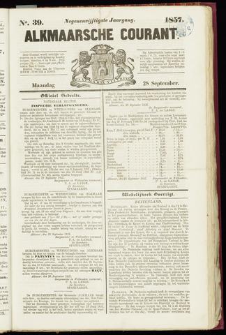 Alkmaarsche Courant 1857-09-28
