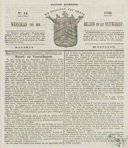 Weekblad van Den Helder en het Nieuwediep 1850-10-28
