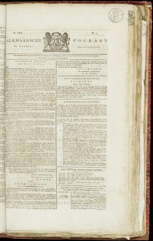 Alkmaarsche Courant 1825-01-10