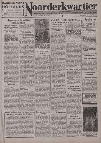 Dagblad voor Hollands Noorderkwartier 1942-01-27