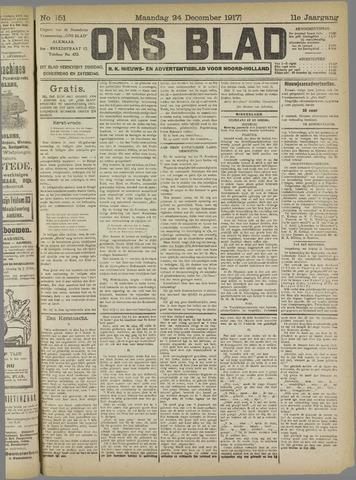 Ons Blad : katholiek nieuwsblad voor N-H 1917-12-24
