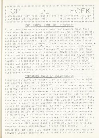 Op De Hoek, weekblad voor Akersloot 1960-11-26