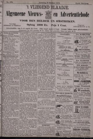 Vliegend blaadje : nieuws- en advertentiebode voor Den Helder 1875-10-09