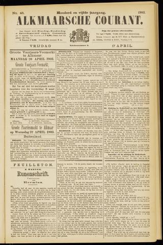 Alkmaarsche Courant 1903-04-17