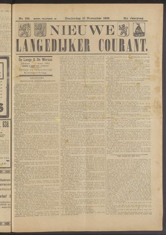 Nieuwe Langedijker Courant 1922-11-16