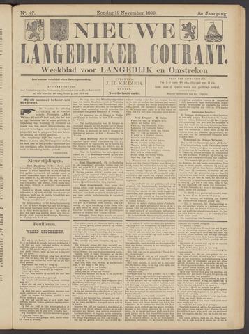 Nieuwe Langedijker Courant 1899-11-19