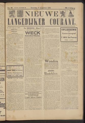 Nieuwe Langedijker Courant 1924-08-02