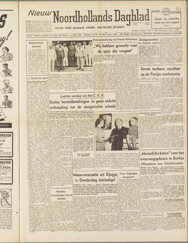 Nieuw Noordhollandsch Dagblad : voor Alkmaar en omgeving 1949-06-10