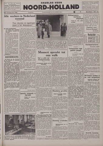 Dagblad Noord-Holland, Schager editie 1942-05-04