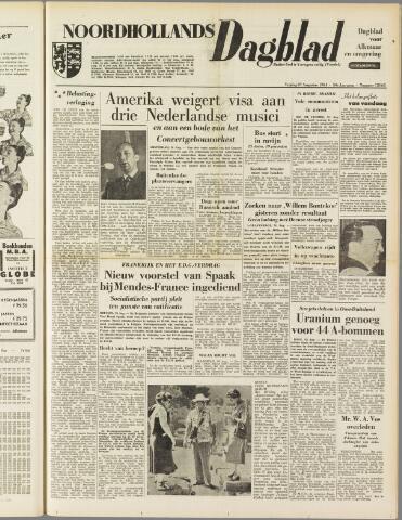 Noordhollands Dagblad : dagblad voor Alkmaar en omgeving 1954-08-27