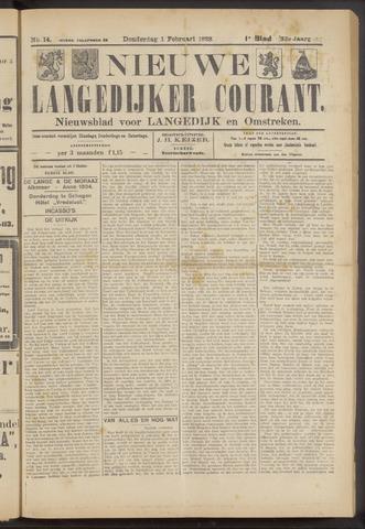Nieuwe Langedijker Courant 1923-02-01