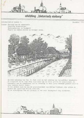 Informatieblad stichting Historisch Niedorp 1984-12-01