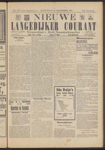 Nieuwe Langedijker Courant 1929-12-14