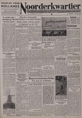 Dagblad voor Hollands Noorderkwartier 1942-04-17
