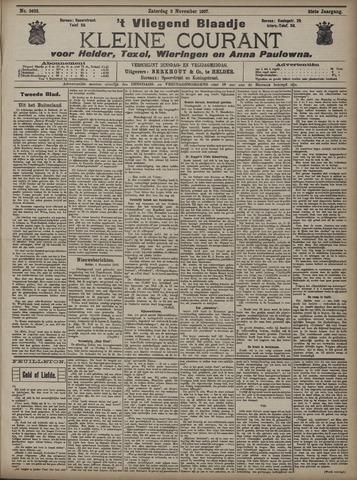 Vliegend blaadje : nieuws- en advertentiebode voor Den Helder 1907-11-02