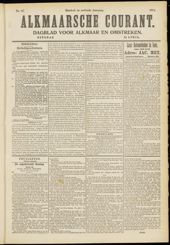 Alkmaarsche Courant 1914-04-14