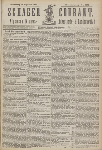 Schager Courant 1920-08-19