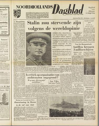 Noordhollands Dagblad : dagblad voor Alkmaar en omgeving 1953-03-05