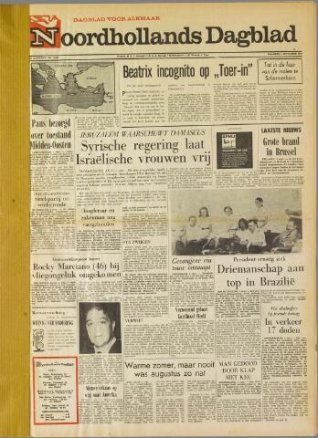 Noordhollands Dagblad : dagblad voor Alkmaar en omgeving 1969-09-01