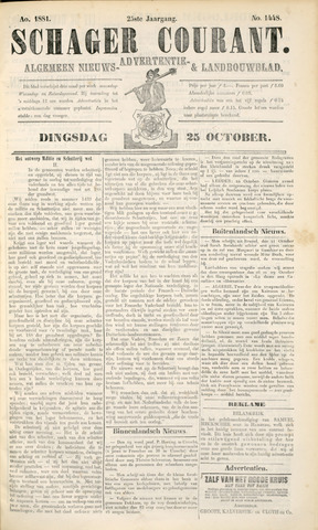 Schager Courant 1881-10-25