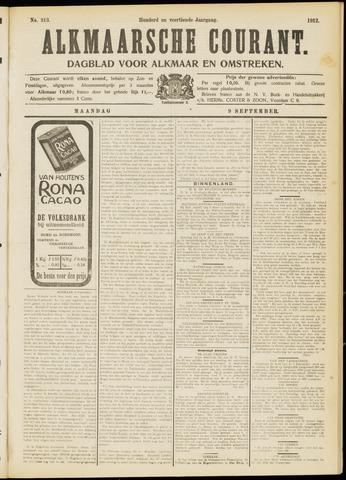 Alkmaarsche Courant 1912-09-09