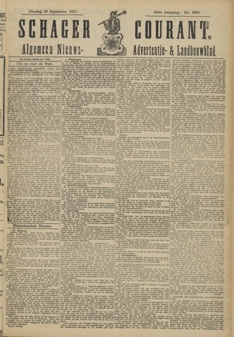 Schager Courant 1911-09-26