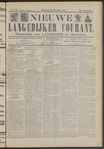 Nieuwe Langedijker Courant 1921-10-18