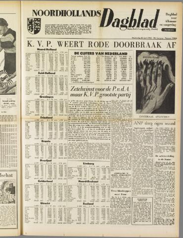 Noordhollands Dagblad : dagblad voor Alkmaar en omgeving 1954-04-22