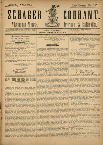 Schager Courant 1888-05-03