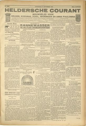 Heldersche Courant 1927-09-15