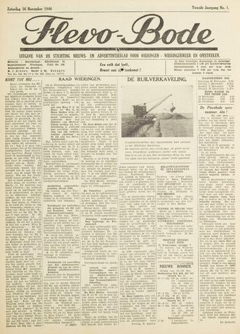 Flevo-bode: nieuwsblad voor Wieringen-Wieringermeer 1946-11-16
