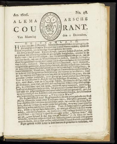 Alkmaarsche Courant 1806-12-01