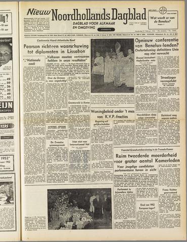 Nieuw Noordhollandsch Dagblad : voor Alkmaar en omgeving 1952-02-21