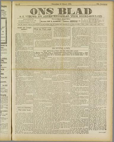 Ons Blad : katholiek nieuwsblad voor N-H 1920-03-22