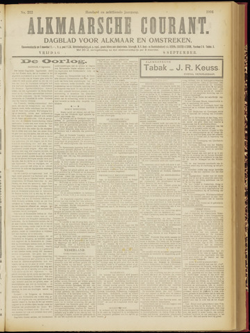 Alkmaarsche Courant 1916-09-08