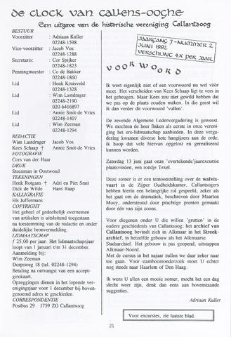 De Clock van Callens-Ooghe 1992-06-01