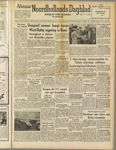 Nieuw Noordhollandsch Dagblad : voor Alkmaar en omgeving 1952-05-02