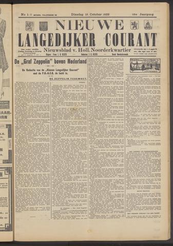 Nieuwe Langedijker Courant 1929-10-15