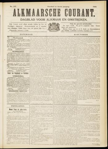 Alkmaarsche Courant 1908-10-10