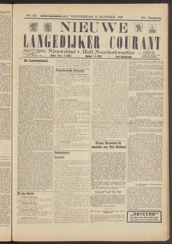 Nieuwe Langedijker Courant 1931-10-15