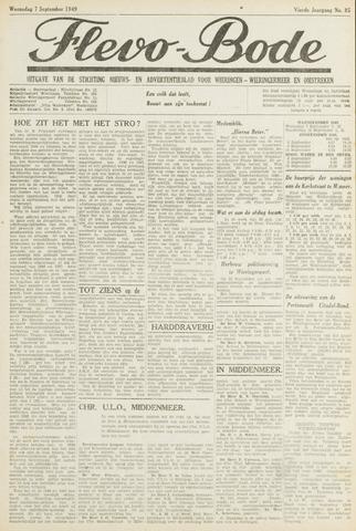 Flevo-bode: nieuwsblad voor Wieringen-Wieringermeer 1949-09-07