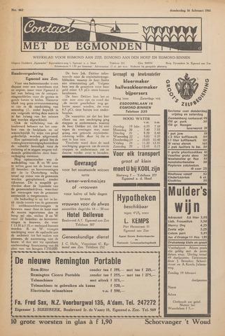 Contact met de Egmonden 1961-02-16