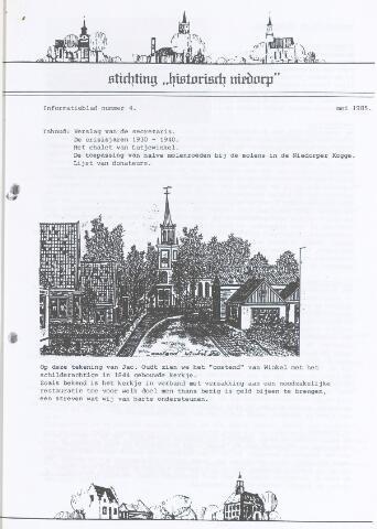 Informatieblad stichting Historisch Niedorp 1985-05-01