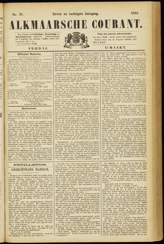 Alkmaarsche Courant 1885-03-13