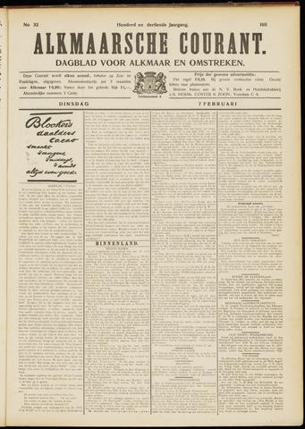 Alkmaarsche Courant 1911-02-07
