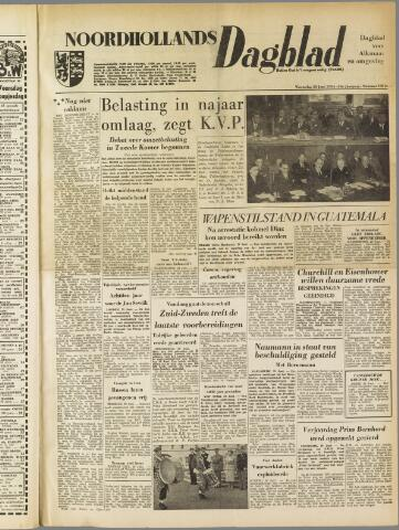Noordhollands Dagblad : dagblad voor Alkmaar en omgeving 1954-06-30