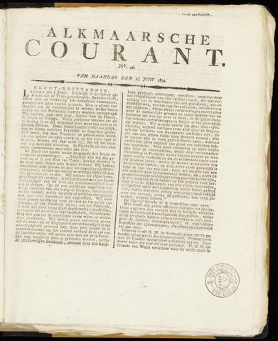 Alkmaarsche Courant 1814-06-13