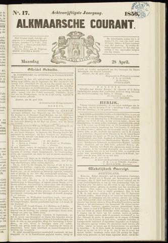 Alkmaarsche Courant 1856-04-28