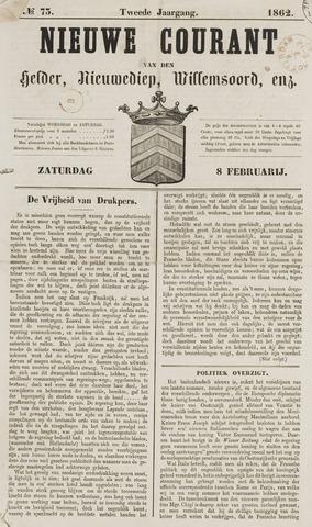 Nieuwe Courant van Den Helder 1862-02-08